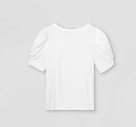 A New Day White Puff Shirt