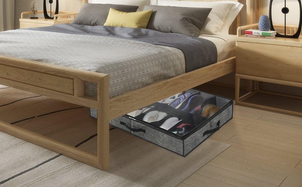 Onlyeasy Sturdy Under Bed Shoe Storage