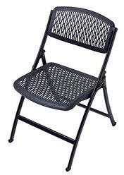 HDX Black Plastic Seat Foldable Folding Chair