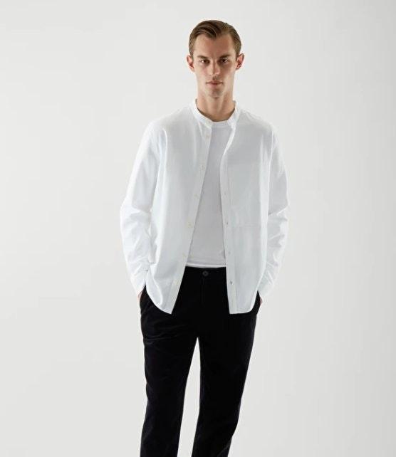COS Regualar Collarless Shirt
