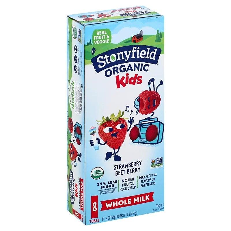 Stonyfield Organic Kids Strawberry Beet Berry Yogurt Tubes