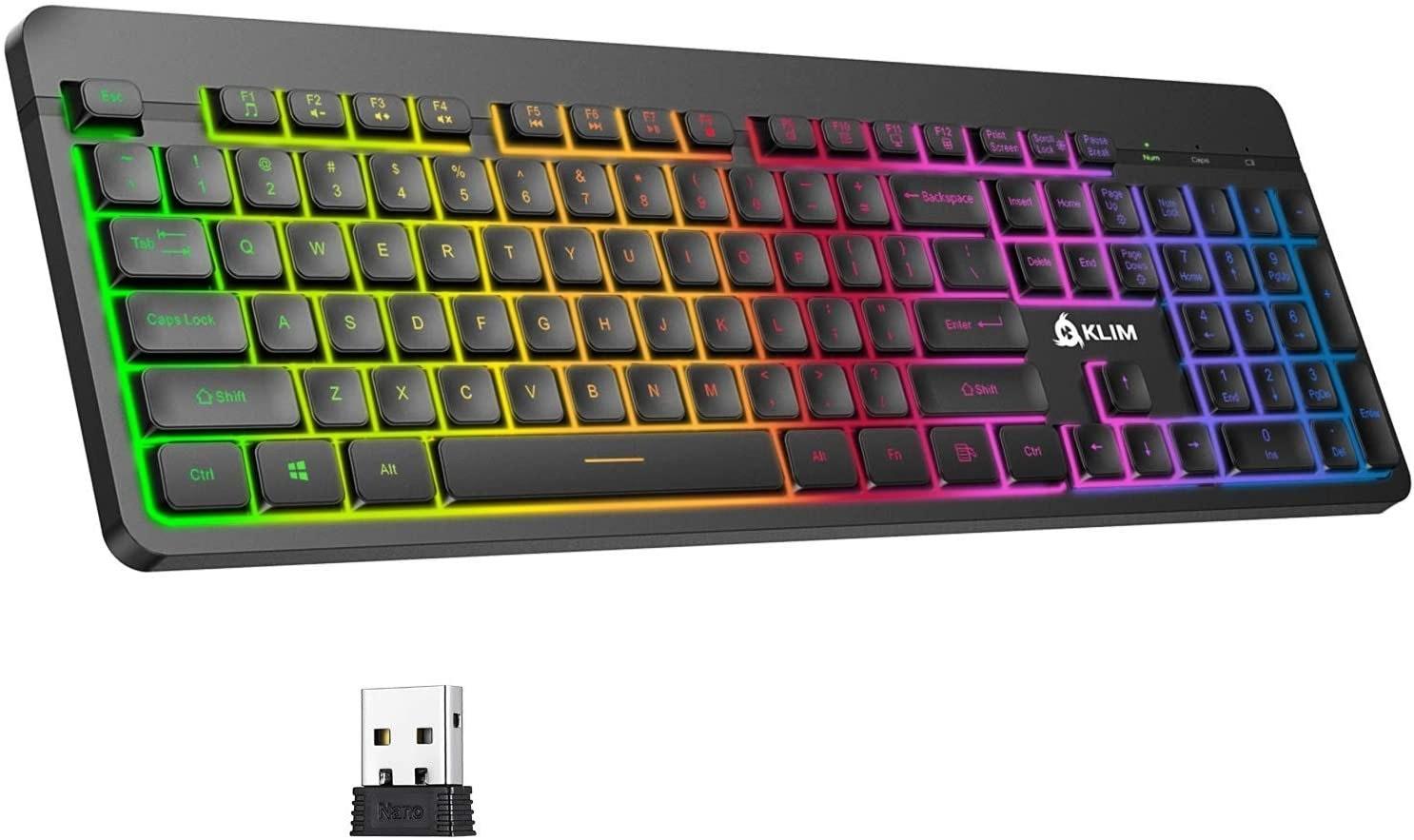 Klim Light V2 Rechargeable Wireless Keyboard