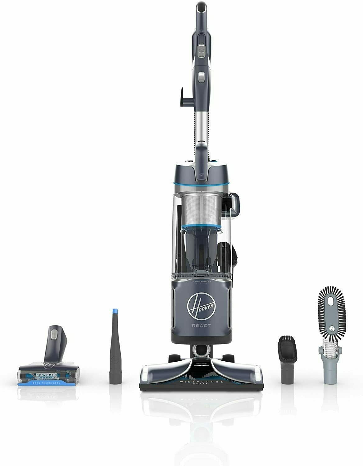 Hoover React Powered Reach Plus Upright Vacuum