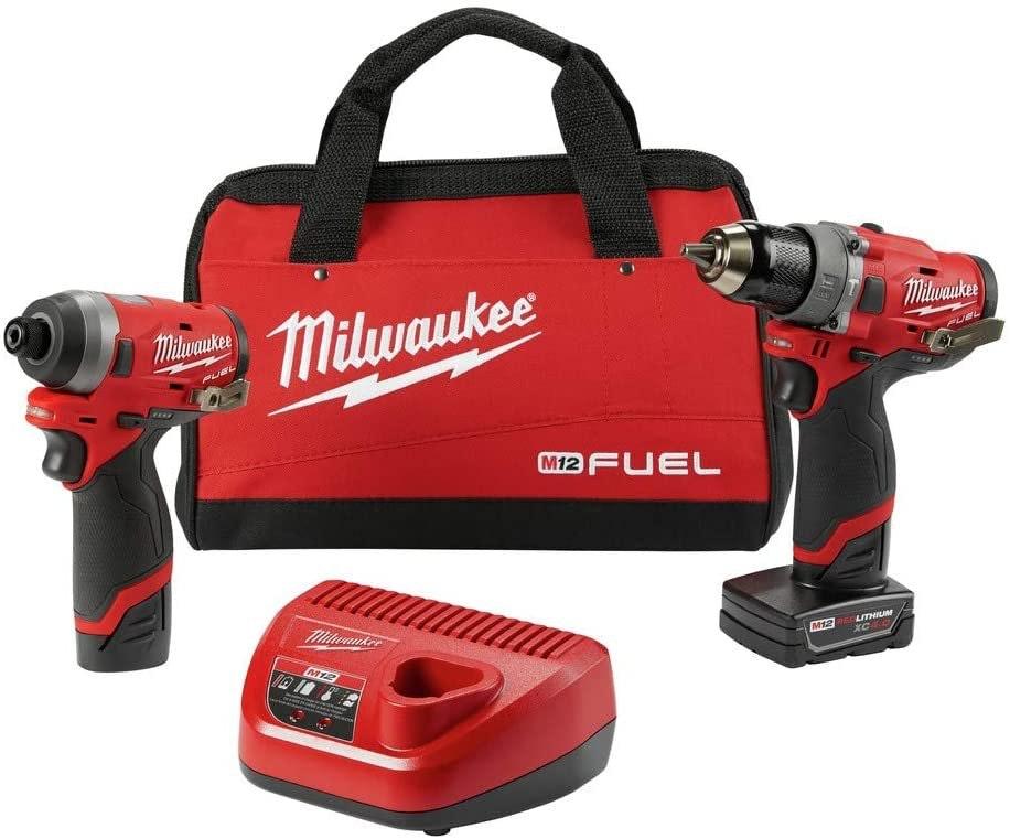 """Milwaukee 1/2"""" Hammer Drill & 1/4"""" Impact"""