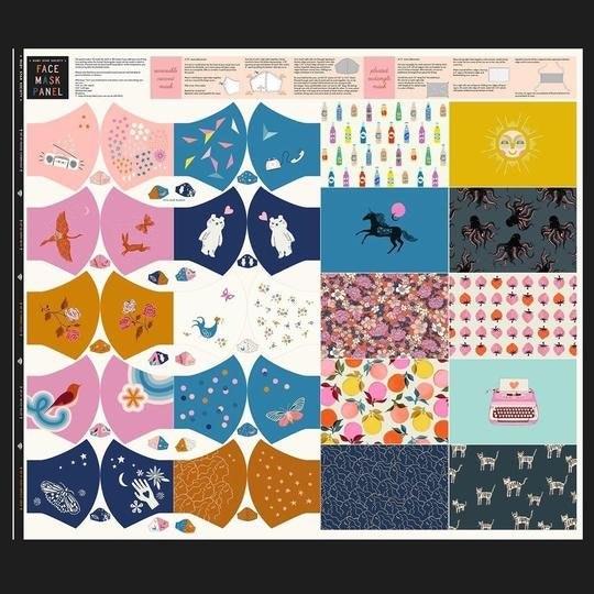 Moda Ruby Star Society Cotton Face Mask Kit
