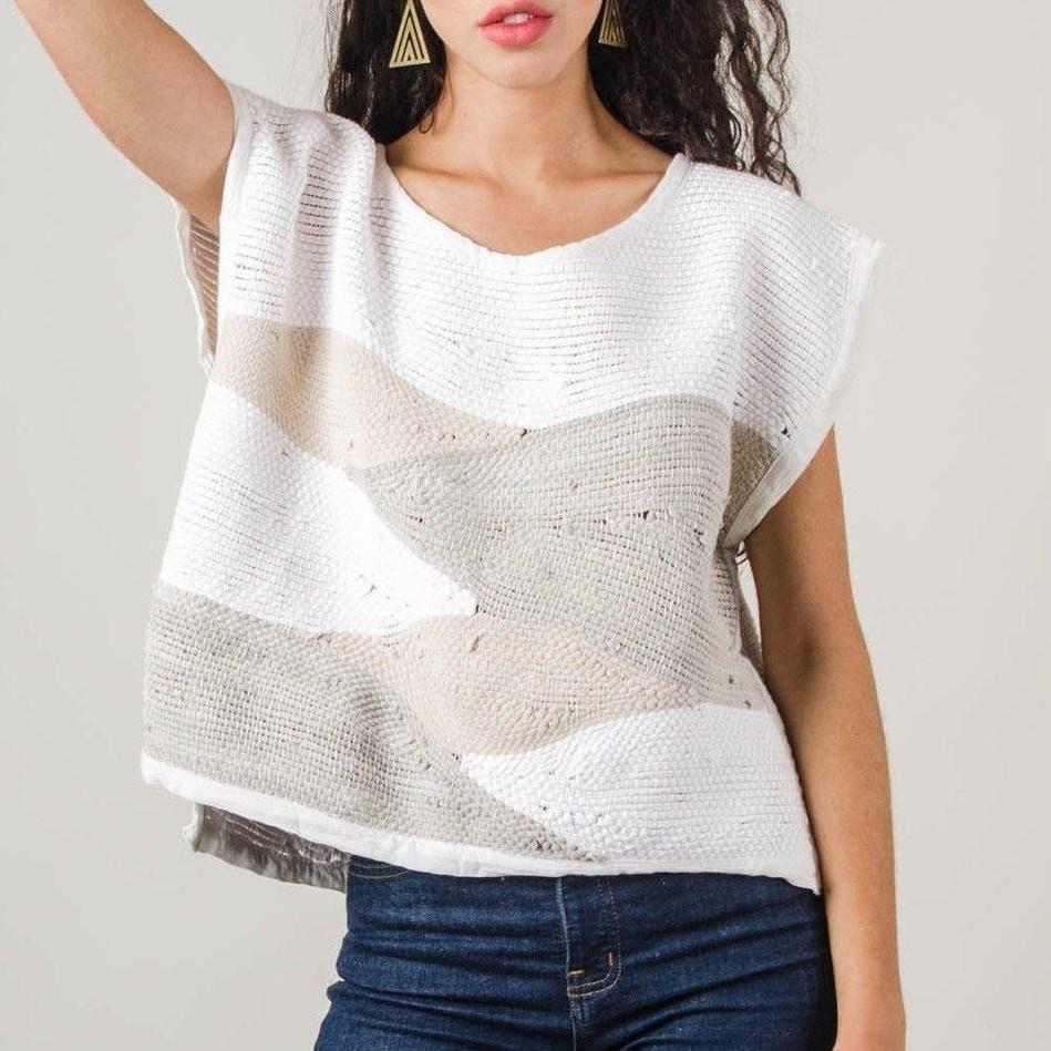 Tonle Handwoven Sweater Top Landscape Design