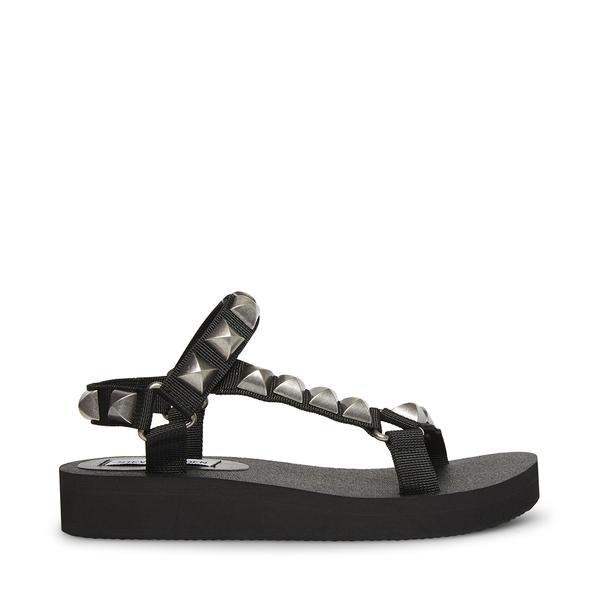 Steve Madden Henley-S Black Sandal