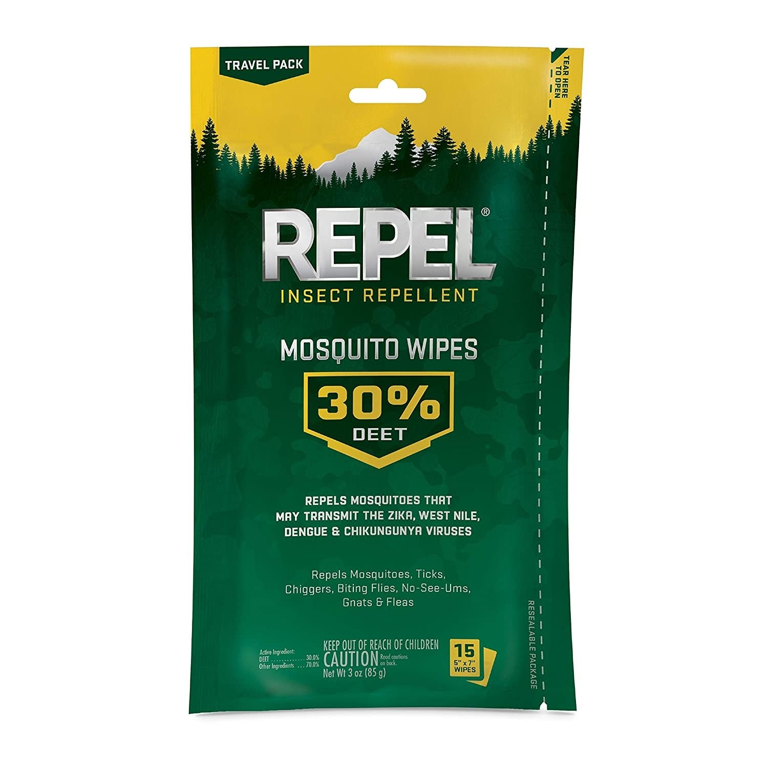 Repel Sportsman Mosquito Wipes