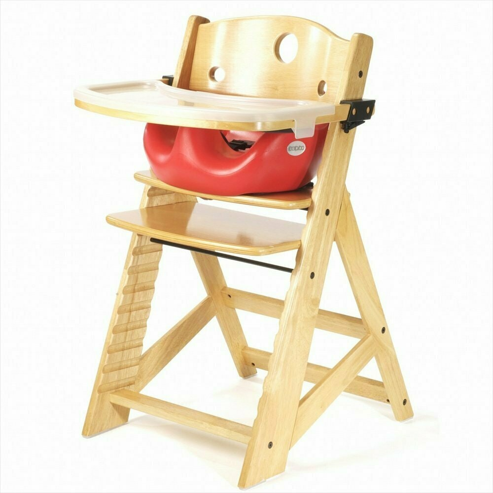 Keekaroo High Chair With Infant Insert & Tray, Natural