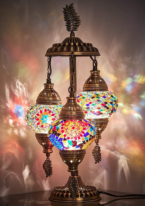Demmex 2020 3 Globe Turkish Moroccan Lamp