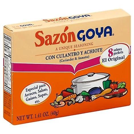 Goya Sazon Con Achiote Y Culantro