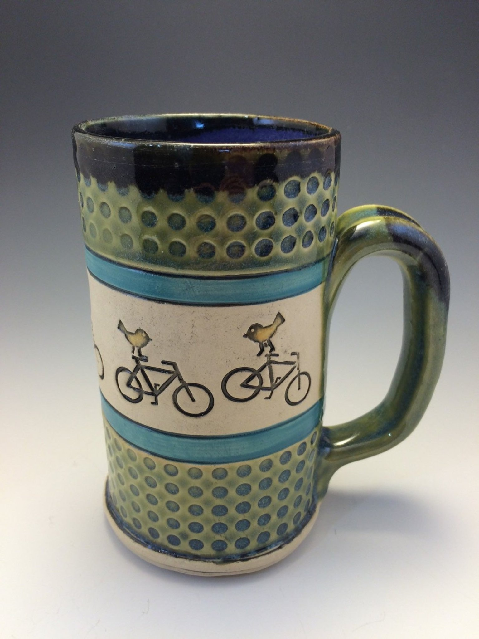 Alissa Clark Clayworks- Mug- Birds on Bike