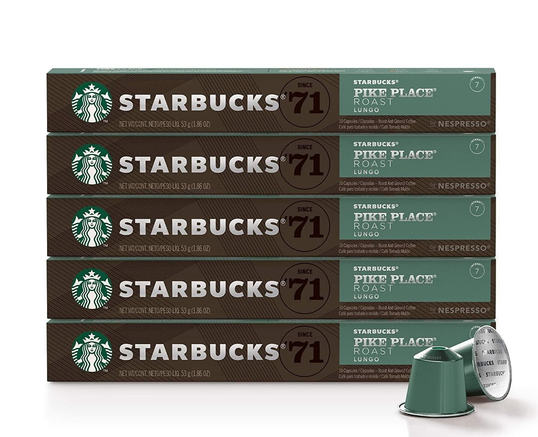 Starbucks by Nespresso Pike Place Roast Original Line Coffee Pods