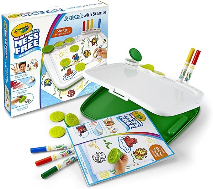 Crayola Color Wonder Mess Free Art Desk With Stamps