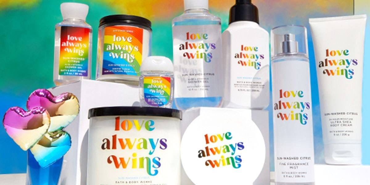 Love Always Wins Collection From Bath and Body Works