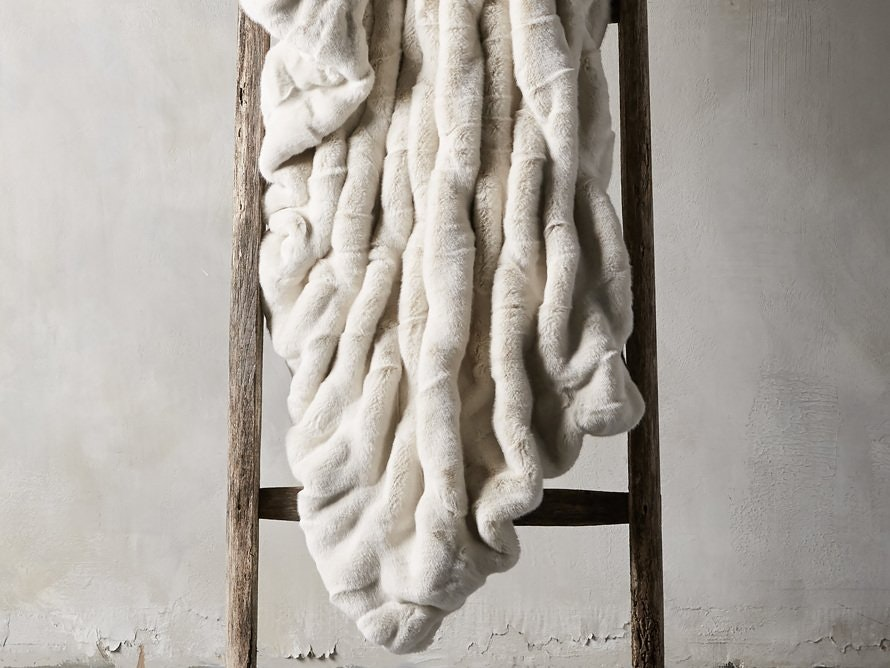 Arhaus Oversized Faux Fur Throw Blanket