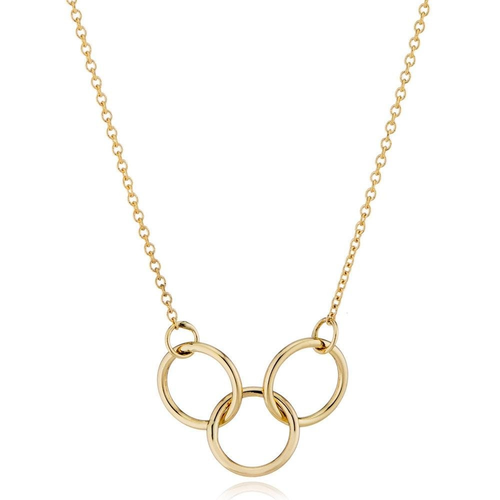 Valerie Madison 14K Gold Interlocking Trio Necklace