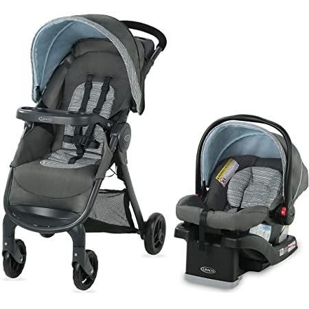 Graco Fastaction Se Travel System | Includes Fastaction Se Stroller and Snugride Infant Car Seat
