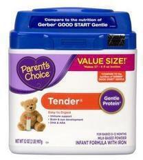 Parent's Choice Tender Infant Formula