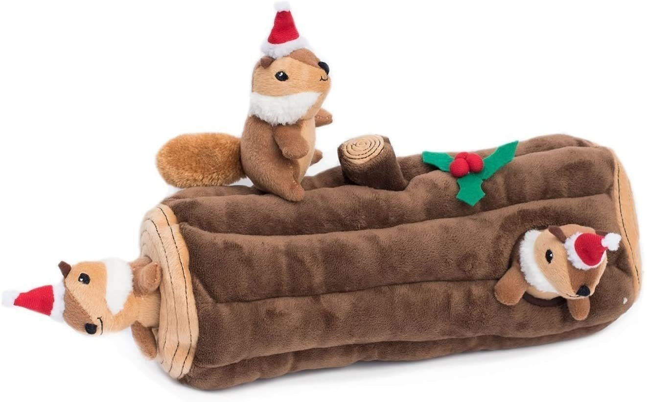 Zippy Paws Holiday Yule Log Burrow