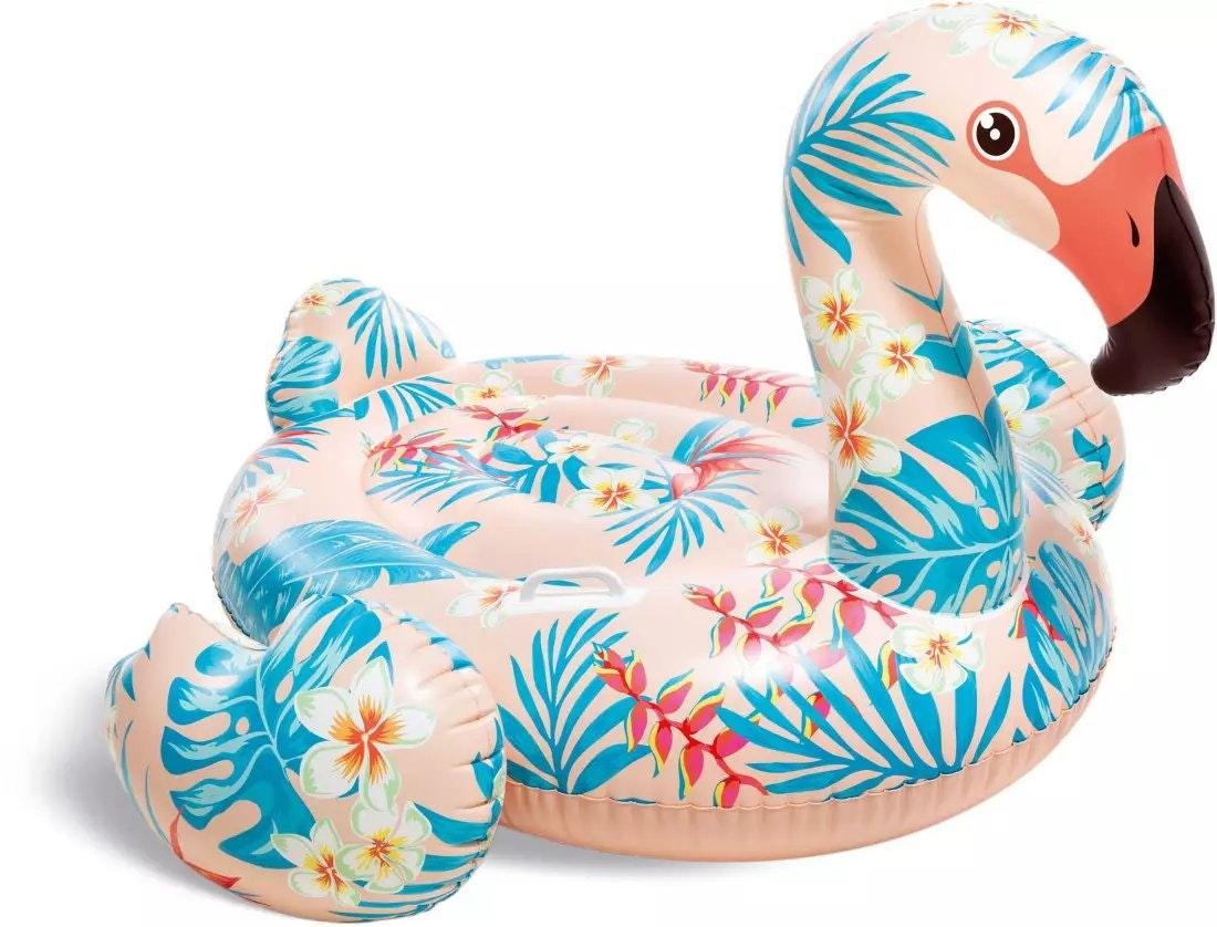 INTEX Tropical Flamingo Ride-On Inflatable Pool Float